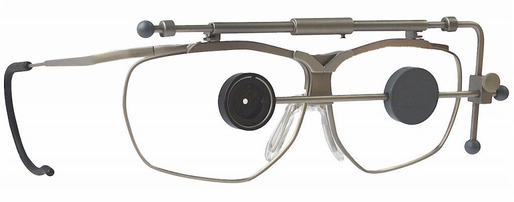 Dynamik Schießbrille mit Irisblende und Abdeckscheibe